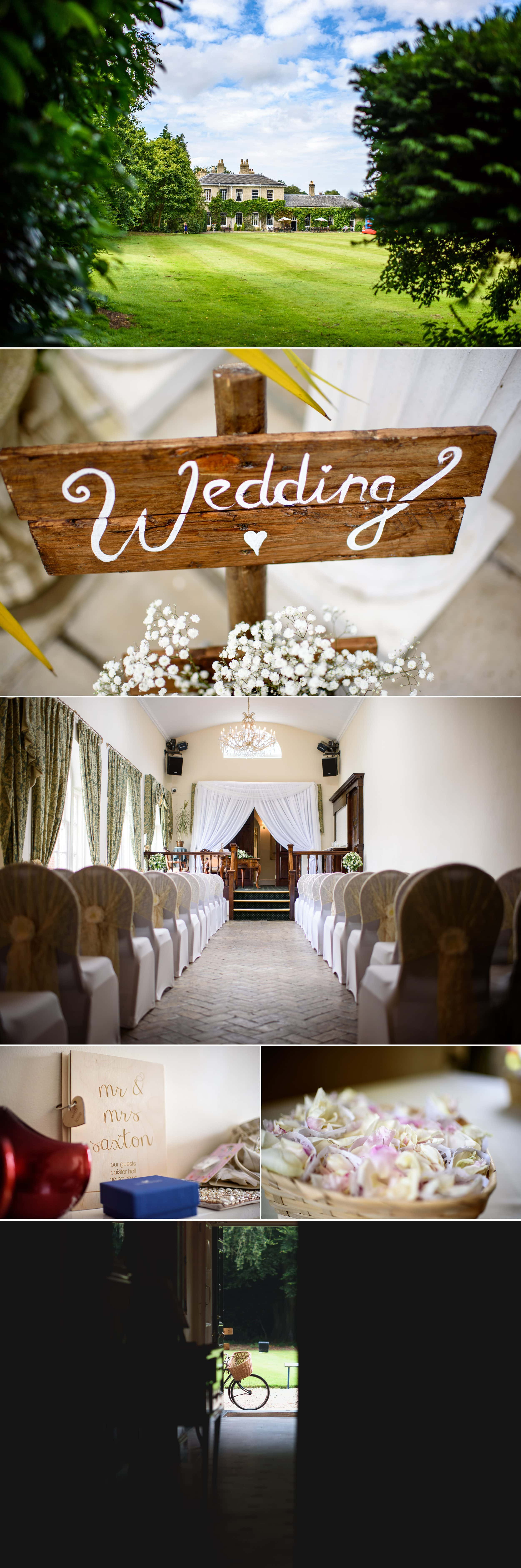 Caistor hall wedding images